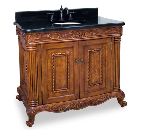 Image Result For Freestanding Walnut And Granite Vanity