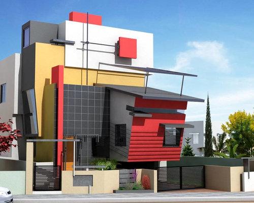 Duplex bungalow home design ideas pictures remodel and decor for Duplex bungalow elevation