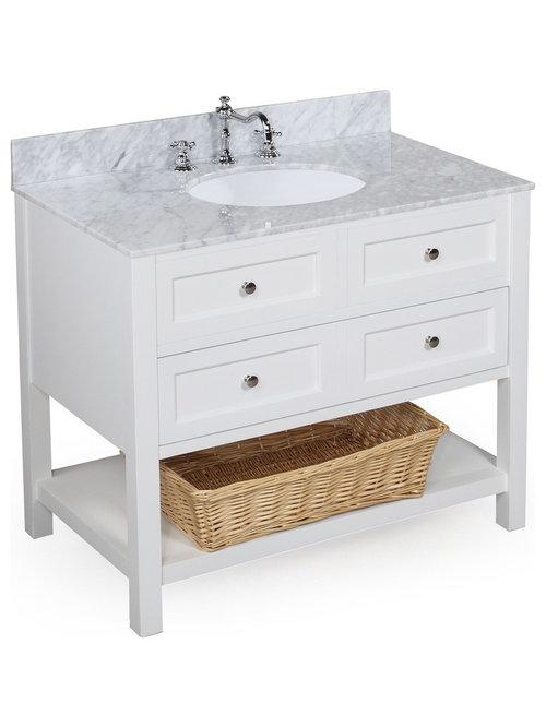 Distressed black bathroom vanity - New Yorker Bath Vanity Carrara White 36 Quot This Bathroom Vanity