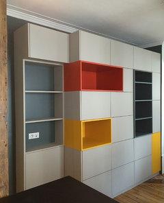 cr ation biblioth que. Black Bedroom Furniture Sets. Home Design Ideas