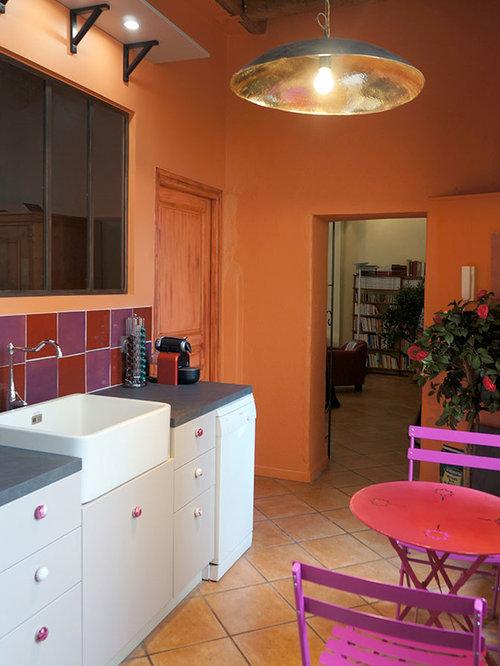 terracotta kitchen floor transitional - photo #33