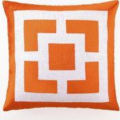 Palm Springs Block Emb Pillow, Orange