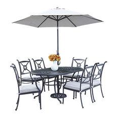 HD wallpapers kontiki 7 piece outdoor patio set with umbrella