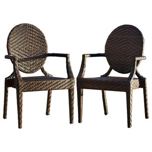 Contemporary Outdoor Dining Chairs by Great Deal Furniture