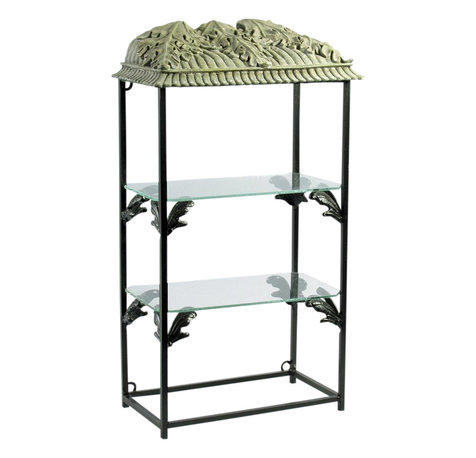 decorative shelf metal display and wall shelves houzz. Black Bedroom Furniture Sets. Home Design Ideas