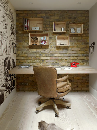Transitional Home Office & Library by LEIVARS