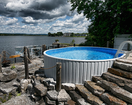 Rustic ottawa pool design ideas remodels photos for Rustic pools