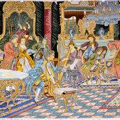 Tableau Rug(Pictorial Carpet) - Decorative French Design