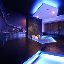 Room Tour: A Bachelor Pad's Lounge-Style Living Room