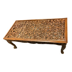 Mogul Interior - Floral Lattice Coffee Table - Coffee Tables