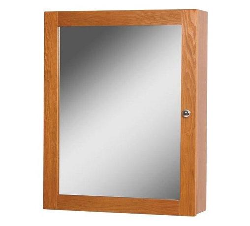 Medicine Cabinet - The Worthington oak bathroom medicine cabinet ...