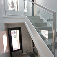 glass and stainless stair railings