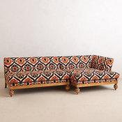 Ogee Ikat Sectional Sofa