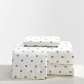 The Emily & Meritt Metallic Dottie Sheet Set, Full
