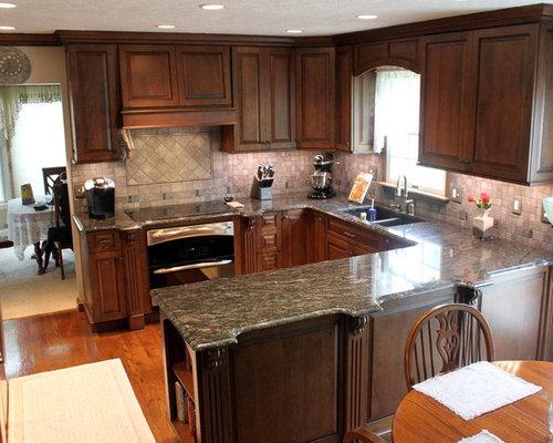 Medium sized open plan kitchen design ideas renovations - Medium sized kitchen design ideas ...