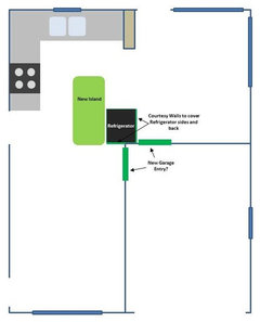 kitchen design help placement of fridge and island need help with furniture placement in open floor plan