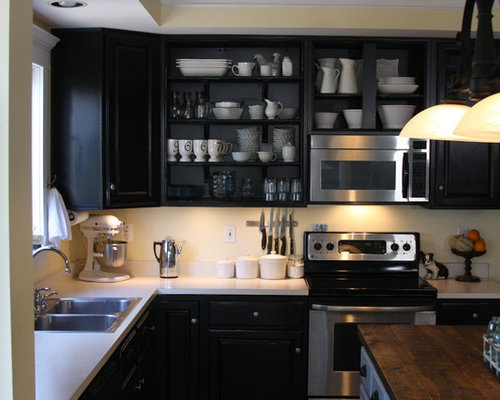Painting Kitchen Cabinets Black Home Design Photos