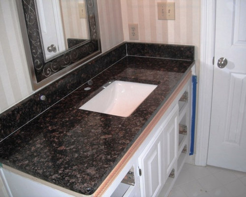 Tan Brown Granite On White Kitchen Cabinets