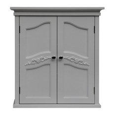 Elegant Home Fashions - Versailles 2-Door Wall Cabinet - The Versailles Wall Cabinet with Two ...