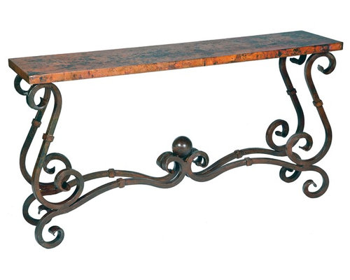 Wrought iron console tables for Wrought iron sofa table base
