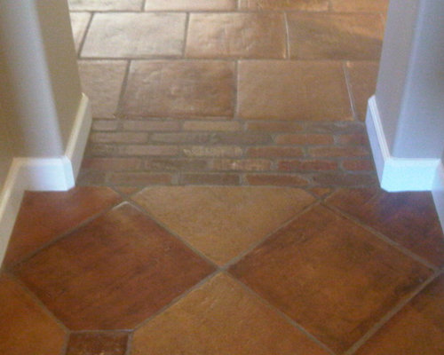 Tile floor to wall transition