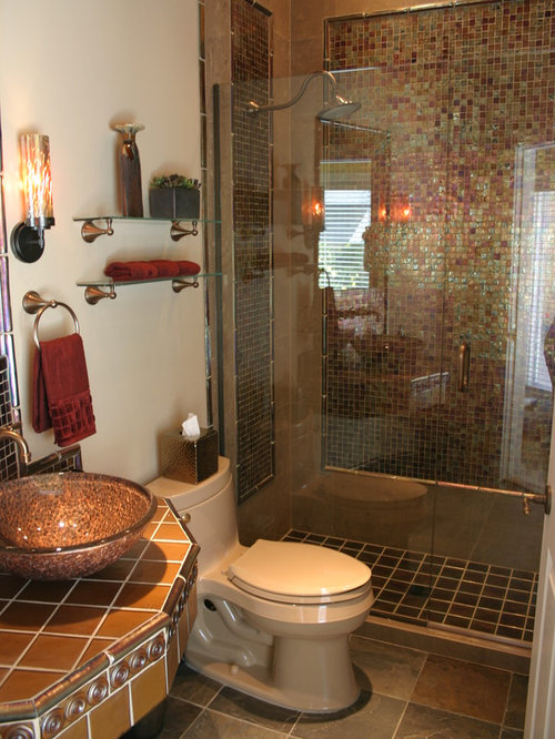 Small tropical bathroom design ideas renovations photos for Small tropical bathroom design