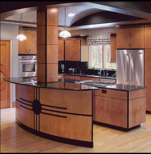 Art deco cabinet home design ideas pictures remodel and for Modern art deco kitchen design