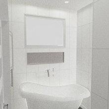 San Francisco Lower Russian Hill Condo Modern Guest Bathroom