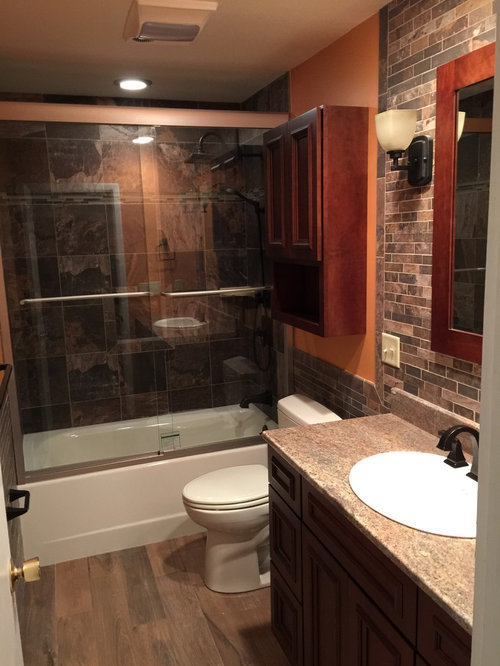 Bathroom design ideas renovations photos with red for Two piece bathroom ideas