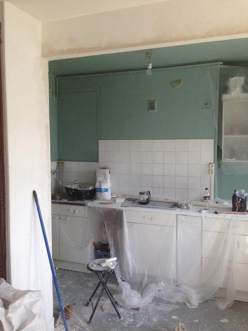 Ouverture D 39 Un Mur Entre Le Salon Et La Cuisne
