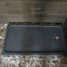 1200x800 Shower Tray Grey Granite Stone Wet Room PALAOS