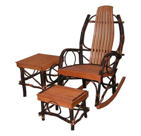 This 3 Piece Rocker Set includes an Amish crafted rocking chair, side ...