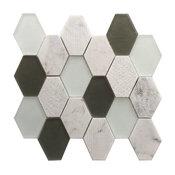 """Anthracite GeoHex 12""""x13 Interlocking Mosaic Blend"""
