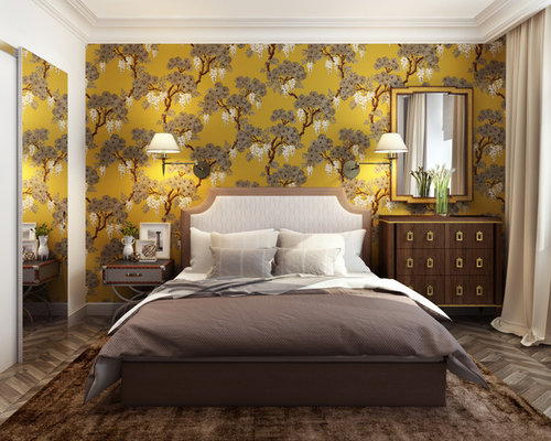 Yellow Master Bedroom Design Ideas Renovations Photos