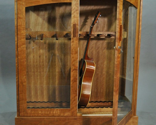 Guitar Display Cabinet Home Design Ideas, Pictures, Remodel and Decor