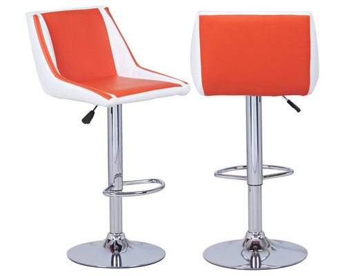 Bar Stools, Set of 2 - This set of two modernized retro barstools ...