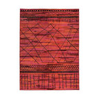 Nuloom Abstract Vintage Style Fancy Rug Pink 7 10 Quot X10 10