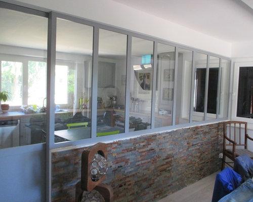 Verri re atelier et chemin e double foyer - Cheminee double foyer ...