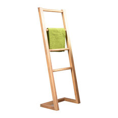Porte serviette - Porte serviette sur pied en bois ...