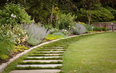 ... Wie grenzt man ein Beet schön und sinnvoll vom übrigen Garten ab