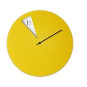 Freakish Wall Clock - Yellow