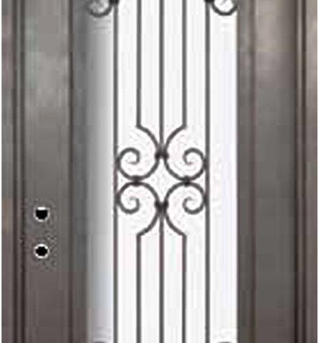 Forged iron doors for 14 gauge steel door