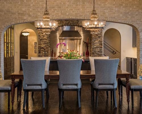 Large Mediterranean Dining Room Design Ideas Renovations