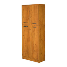 ... - South Shore Fiesta Storage Pantry, Country Pine - Pantry Cabinets