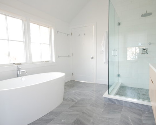 Grey Marble Bathroom : Gray Marble Floor Home Design Ideas, Pictures, Remodel and Decor