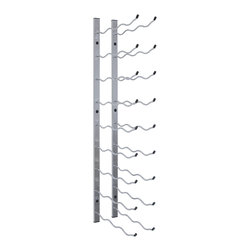 Epic Metal Wine Rack, Stainless - At last--a new wall-mount metal wine ...