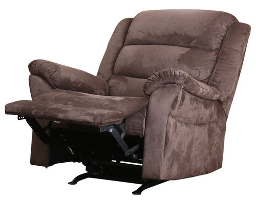 abbyson living austin microsuede rocker recliner brown offering