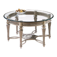 Magnussen Furniture Round Cocktail Table Galloway Finish Subtle