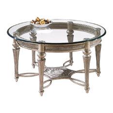 Magnussen Furniture Round Cocktail Table Galloway Finish Subtle