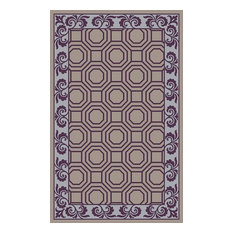 Purple geometric rugs houzz - How to make a wool accent rug work for your space ...